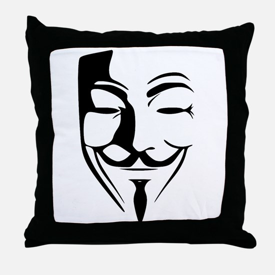 Fawkes Silhouette Throw Pillow