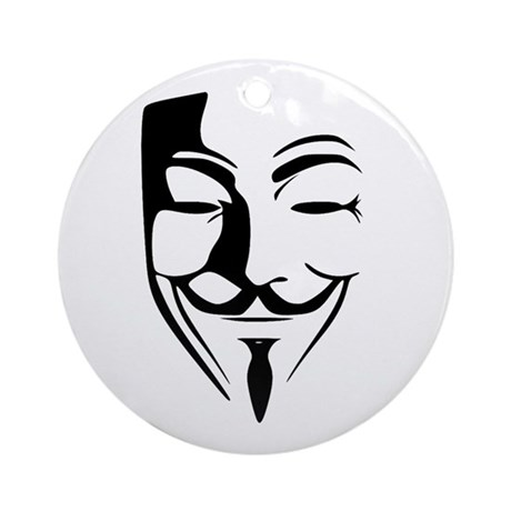 Fawkes Silhouette Ornament (Round)