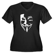 Fawkes Silhouette Women's Plus Size V-Neck Dark T-
