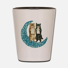 Blue Moon Singing Cats Shot Glass