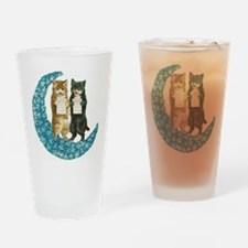 Blue Moon Singing Cats Drinking Glass