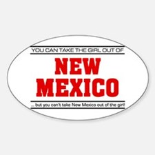 'Girl From New Mexico' Sticker (Oval)