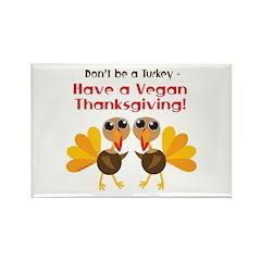Vegan Thanksgiving Rectangle Magnet (100 pack)