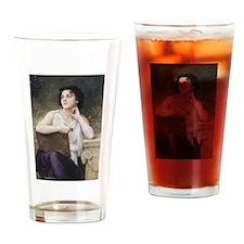 Cute Greek woman Drinking Glass