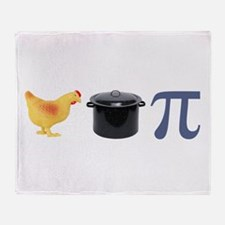 Chicken Pot Pi Pie Throw Blanket