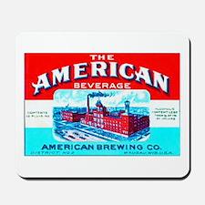 Wisconsin Beer Label 4 Mousepad