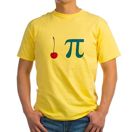 Cherry Pie Pi Yellow T-Shirt
