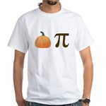Pumpkin Pi Pie White T-Shirt