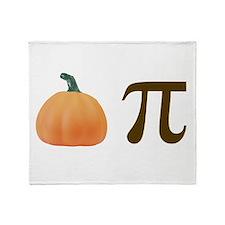 Pumpkin Pi Pie Throw Blanket