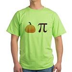 Pumpkin Pi Pie Green T-Shirt