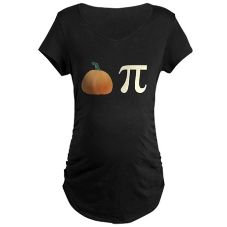 Pumpkin Pi Pie Maternity Dark T-Shirt
