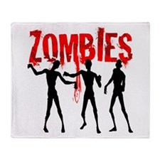 Cute Scary zombie Throw Blanket
