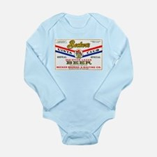 Wyoming Beer Label 1 Long Sleeve Infant Bodysuit