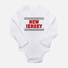 'Girl From New Jersey' Long Sleeve Infant Bodysuit