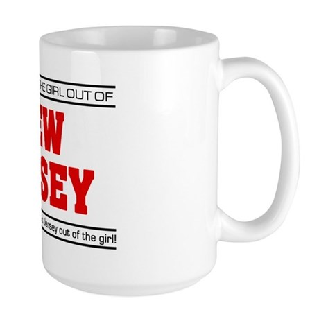 'Girl From New Jersey' Large Mug
