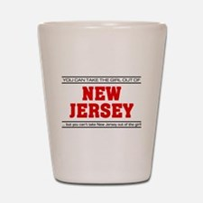 'Girl From New Jersey' Shot Glass