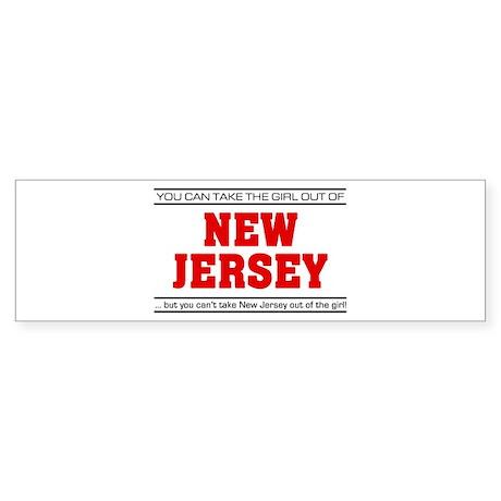 'Girl From New Jersey' Sticker (Bumper)