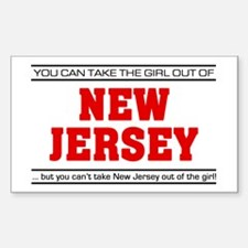 'Girl From New Jersey' Decal