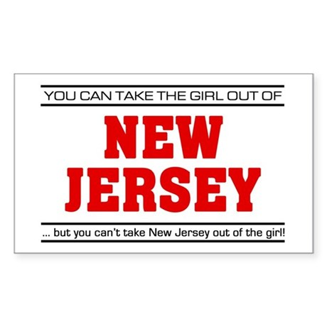 'Girl From New Jersey' Sticker (Rectangle)