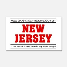 'Girl From New Jersey' Car Magnet 20 x 12