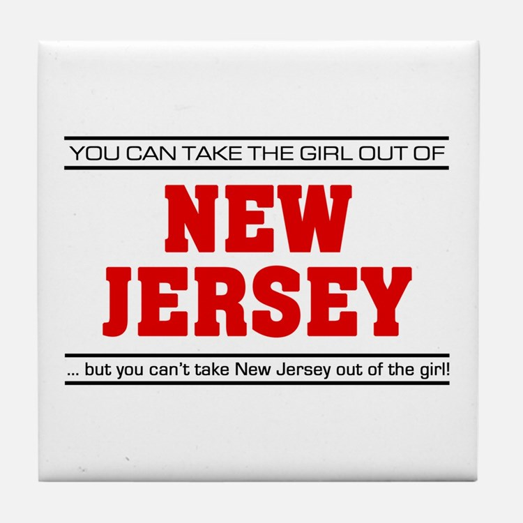 'Girl From New Jersey' Tile Coaster