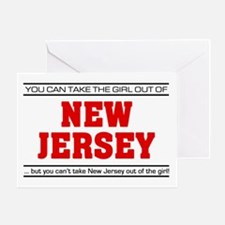 'Girl From New Jersey' Greeting Card