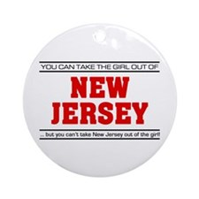 'Girl From New Jersey' Ornament (Round)