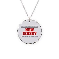 'Girl From New Jersey' Necklace Circle Charm