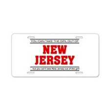 'Girl From New Jersey' Aluminum License Plate