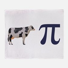 Cow Pie Pi Throw Blanket
