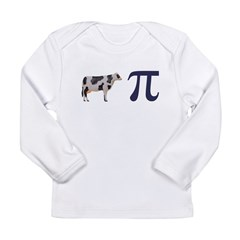 Cow Pie Pi Long Sleeve Infant T-Shirt