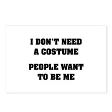 I don't need a Costume Postcards (Package of 8)