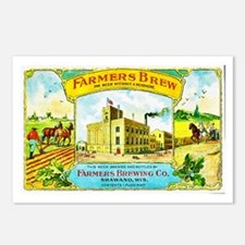 Wisconsin Beer Label 3 Postcards (Package of 8)