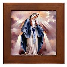 Our Lady Framed Tile