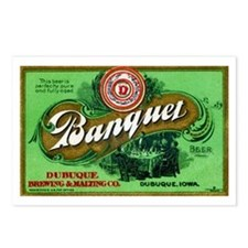 Iowa Beer Label 3 Postcards (Package of 8)
