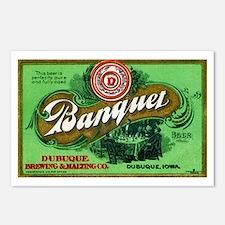 Iowa Beer Label 3 Postcards (Package of 8)