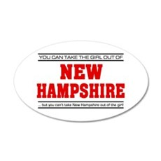 'Girl From New Hampshire' 22x14 Oval Wall Peel