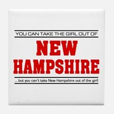 'Girl From New Hampshire' Tile Coaster