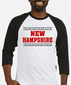 'Girl From New Hampshire' Baseball Jersey