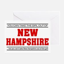 'Girl From New Hampshire' Greeting Card