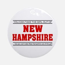'Girl From New Hampshire' Ornament (Round)