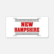 'Girl From New Hampshire' Aluminum License Plate