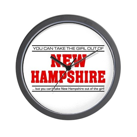 'Girl From New Hampshire' Wall Clock