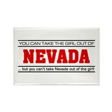 'Girl From Nevada' Rectangle Magnet