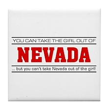 'Girl From Nevada' Tile Coaster