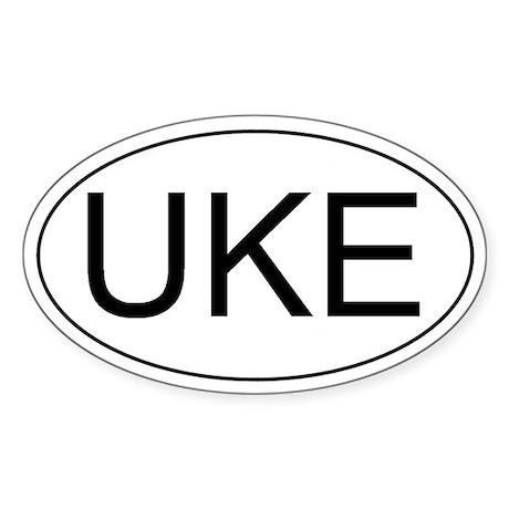 Uke Ukulele Oval Sticker