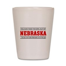 'Girl From Nebraska' Shot Glass