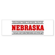 'Girl From Nebraska' Bumper Sticker