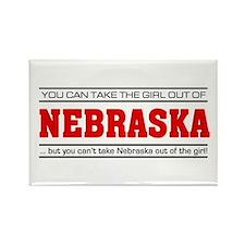 'Girl From Nebraska' Rectangle Magnet