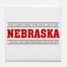 'Girl From Nebraska' Tile Coaster